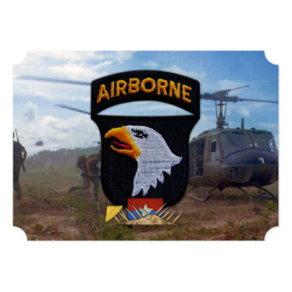 "army 101st airborne vietnam nam patch 5"" x 7"" invitation card"