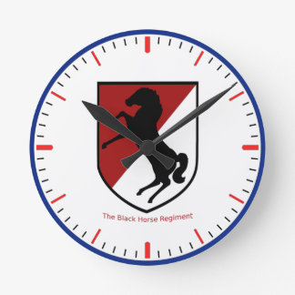 Army 11th Armored Cavalry Regiment Round Clock