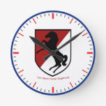Army 11th Armored Cavalry Regiment Round Wallclock
