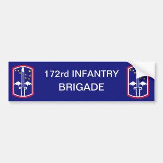 Army 172nd Infantry Brigade Bumper Sticker