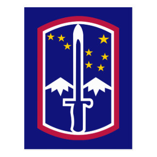 Army 172nd Infantry Brigade Postcard