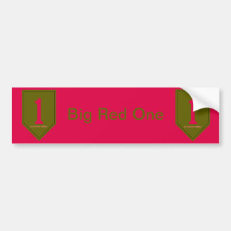 Army 1st Infantry Division Bumper Sticker