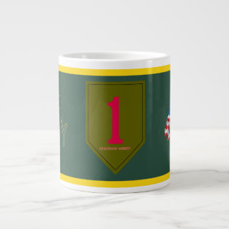 Army 1st Infantry Division Large Coffee Mug
