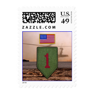 army 1st infantry veterans vets patch postage