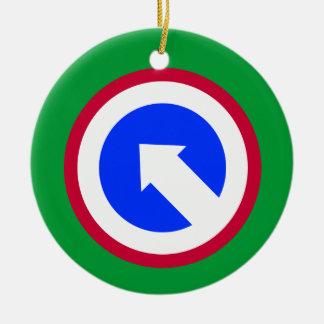 Army 1st Sustainment Brigade Ceramic Ornament