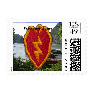 Army 25th infantry division vietnam nam vets postage stamp