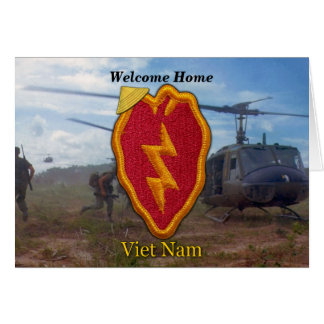 army 25th infantry division vietnam nam war card