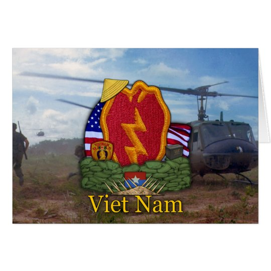 army 25th infantry division vietnam war vets Card