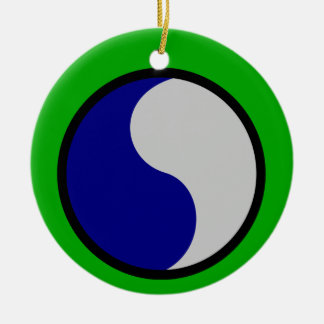 Army 29th Infantry Division Ceramic Ornament