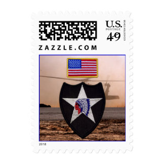 Army 2nd infantry veterans vets patch postage stamps
