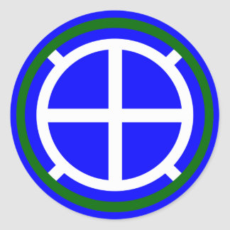 Army 35th Infantry Division Classic Round Sticker