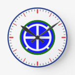 Army 35th Infantry Division Wall Clock