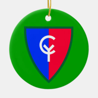 Army 38th Infantry Division Ceramic Ornament
