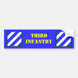 Army 3rd Infantry Division Car Bumper Sticker