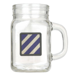 Army 3rd infantry division recon veterans vets mason jar