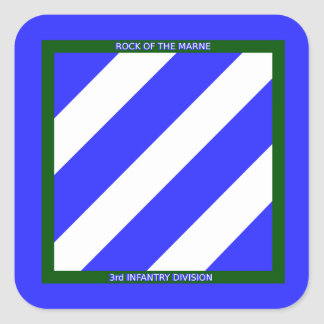 Army 3rd Infantry Division Square Sticker