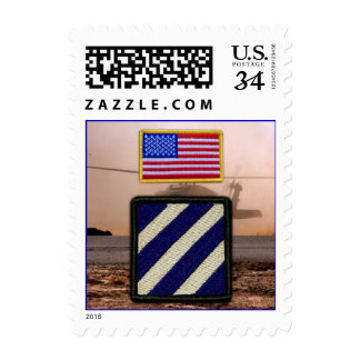 Army 3rd infantry division veterans vets patch postage stamps