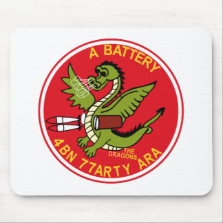 ARMY 4th Battalion 77th Artillery A Battery Aerial Mousepads