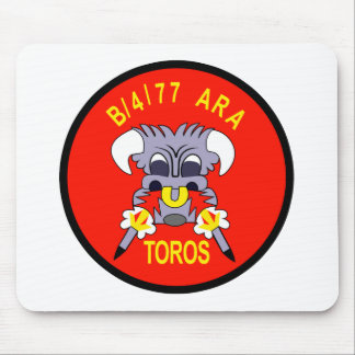 ARMY 4th Battalion 77th Artillery B Battery Aerial Mouse Pads