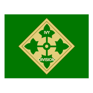 Army 4th Infantry Division Postcard