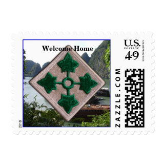 Army 4th infantry division vietnam nam vets stamp