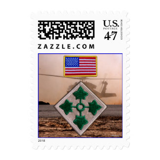 Army 4th infantry veterans vets patch postage