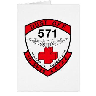 ARMY 571st Aviation Medical Company Air Ambulance Card