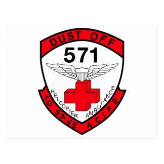 ARMY 571st Aviation Medical Company Air Ambulance Postcard