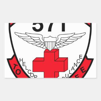 ARMY 571st Aviation Medical Company Air Ambulance Rectangular Sticker