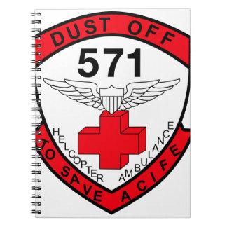 ARMY 571st Aviation Medical Company Air Ambulance Spiral Notebook