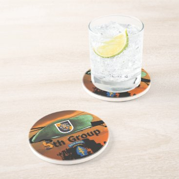 Army 5th SFGA Special Forces Green Berets SFG Vets Coaster