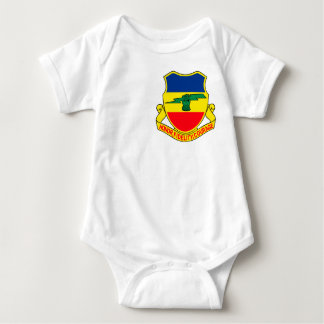 Army 73rd Cavalry Unit Crest Patch Baby Bodysuit