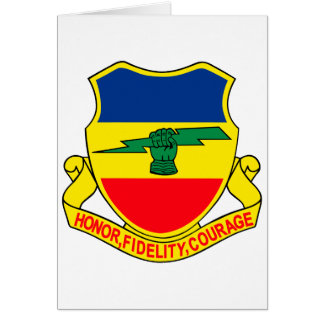 Army 73rd Cavalry Unit Crest Patch Card
