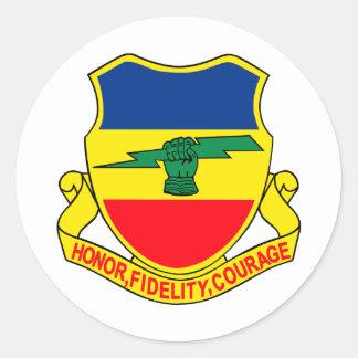 Army 73rd Cavalry Unit Crest Patch Classic Round Sticker