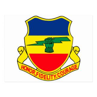 Army 73rd Cavalry Unit Crest Patch Postcard