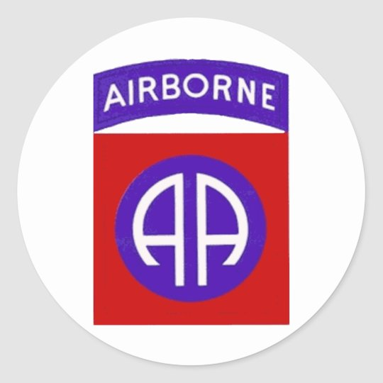 Army 82nd Airborne Classic Round Sticker