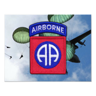 army 82nd airborne division nam patch personalized invitation