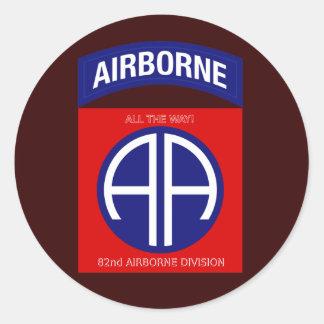 Army 82nd Airborne Division Round Sticker