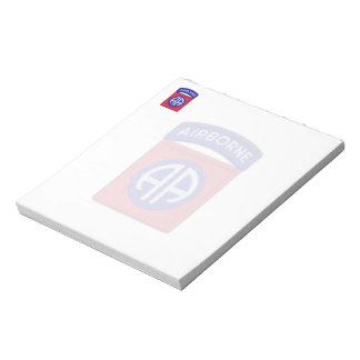 Army 82nd Airborne Division Veterans Vets Patch Notepad
