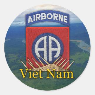 army 82nd airborne division veterans vietnam vets  round stickers