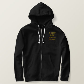 ARMY 82nd Airborne Embroidered Basic Zip Hoodie