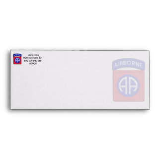 army 82nd airborne veterans vets LRRPS recon Envelope