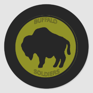 Army 92nd Infantry Division Classic Round Sticker