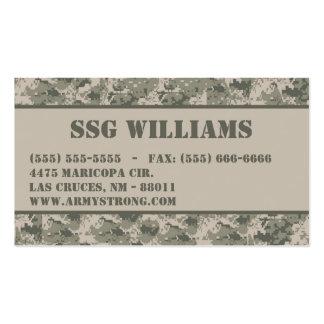 ARMY ACU Camoflauge Digital Camo Business Card