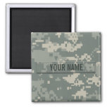 Army ACU Camouflage Customizable 2 Inch Square Magnet