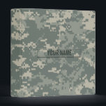 """Army ACU Camouflage Customizable Binder<br><div class=""""desc"""">The digital camouflage pattern as seen on modern army soldiers&#39; uniforms.</div>"""