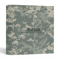 Army ACU Camouflage Customizable Binder