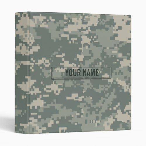 Army ACU Camouflage Customizable Binder