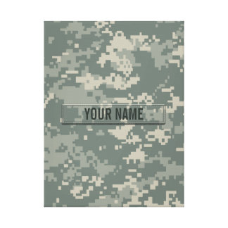 Army ACU Camouflage Customizable Gallery Wrapped Canvas