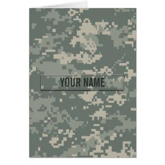 Army ACU Camouflage Customizable Card